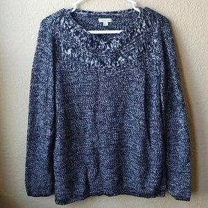 Croft & Barrow Marbled Knit Sweater